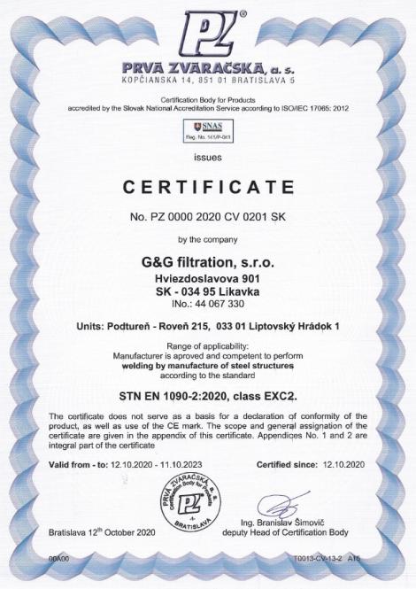 1090-2: 2020 Заваряване и производство на стоманени конструкции